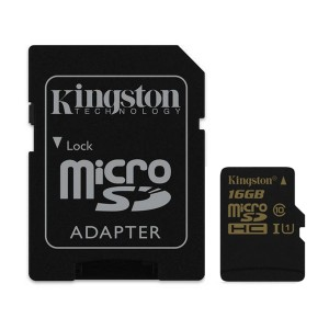 KINGSTON MicroSDHC 16GB class10 + adapter SDCA10/16GB