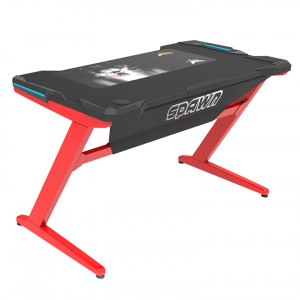 SPAWN Horz Z1 Computer Desk Red/Black